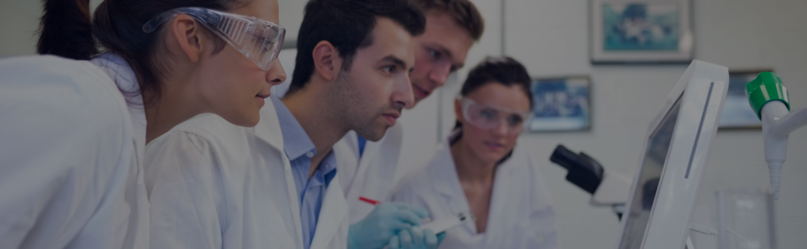 Researchers or scientists in lab